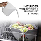 Farberware FDW05ASBWHA Complete Portable Countertop Dishwasher with 5-Liter Built-in Water Tank, 5 Programs, Baby Care, Glass & Fruit Wash-White