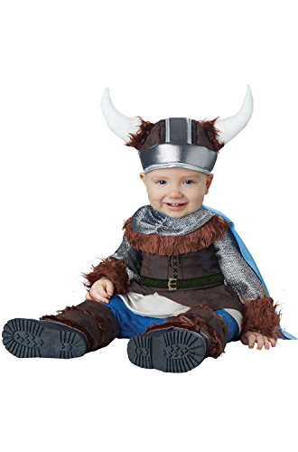 Costumes Boy 2016 Baby (California Costumes Baby Boys' Lil' Viking Infant, Brown/Silver, 12 to 18)