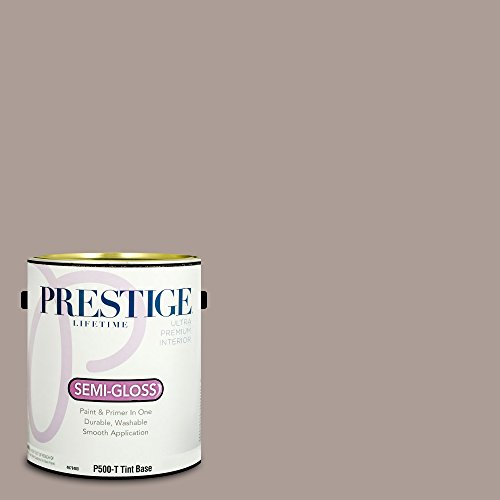 Taupe Gloss - Prestige Paints P500-T-SW6038 Interior Paint and Primer in One, 1-Gallon, Semi-Gloss, Comparable Match of Sherwin Williams Truly Taupe, 1 Gallon, SW38-Truly