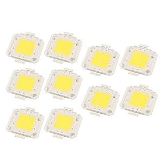 eDealMax 10Pcs 27-30V 50W viruta del LED bulbo Blanco Super ...