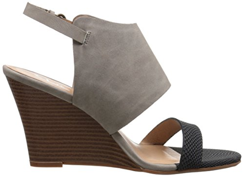 Wedge Baja Chinese Women Nubuck Sandal Grey Black Laundry by CL Snake qRwHff