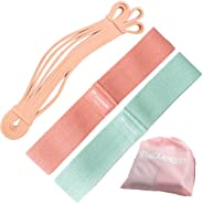 Squeeze Bands Hip Bands Set, Fabric Booty Resistance Bands Non Slip, Anti Roll Design for Leg and Butt Workout