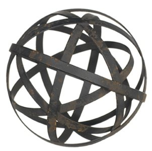 Beautiful Botanical Collection Decorative Black Metal Orb (Medium (4-in)) by Raz