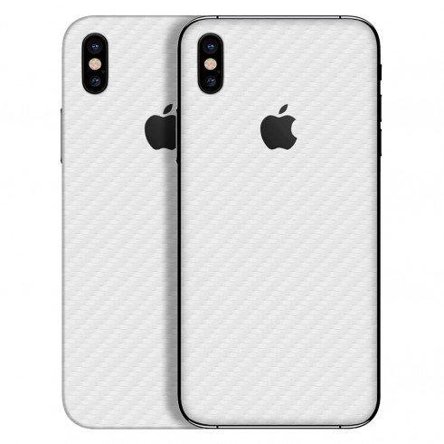 Gadgets Wrap V0-N1PM-8TOX Vinyl Carbon Fibre Skin Sticker for Apple iPhone  X (White)
