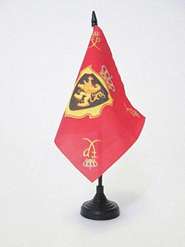 BANDIERA DA TAVOLO STANDARDO REALE DEL BELGIO 15x15cm - PICCOLA BANDIERINA DEL REGNO BELGA 15 x 15 cm - AZ FLAG