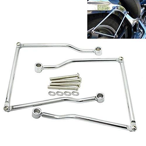 - Motorcycle Steel Saddlebag Support Bars Universal Hard Mounts Brackets Kits-Fit for Yamaha Honda Kawasaki Suzuki Harley Saddlebag Support Cruiser Bars Kit