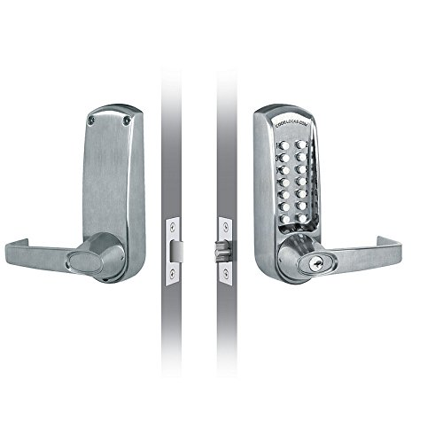 CODELOCKS CL610 CL610 Mechanical Lever Set with Front Change Code, 6 Pin Cylinder, 2 3/4'' UL Fire Rated Latch Bolt