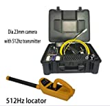 Summer Promotion 30m cable sewer pipe inspection camera drain inspection camera with 512hz transmitter and 512hz locator kits
