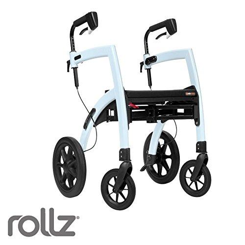 Rollz Motion 2-n-1 Rollator Transport Chair (Ice Blue)