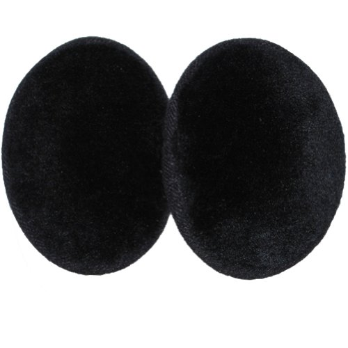 Faux Fur Bandless Ear Muffs, Black or Brown Mink, Leopard, and Ocelot, Regular, Small