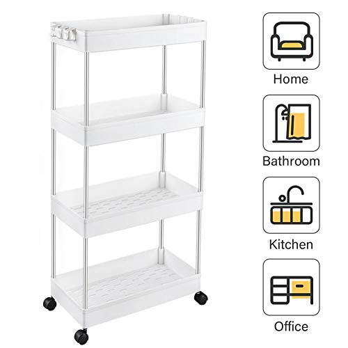 SPACEKEEPER Storage Cart 4-Tier
