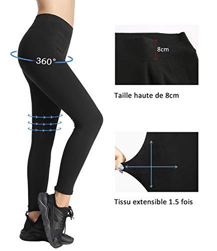 4How Legging de Sport Femmes Coton Aptitude Yoga Pantalon Confortable Modèle Classique