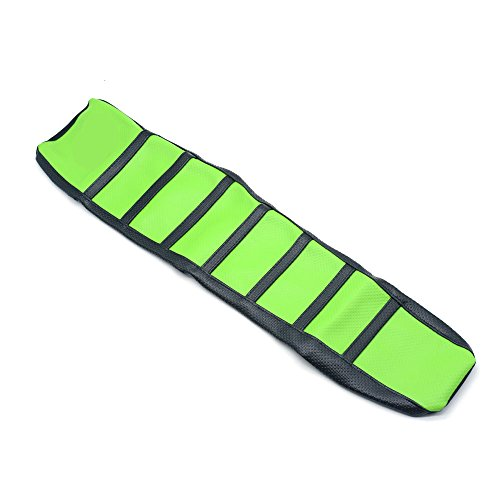 Green Rubber Ribbed Gripper Soft Rubber Seat Cover For KAWASAKI Motorcycle