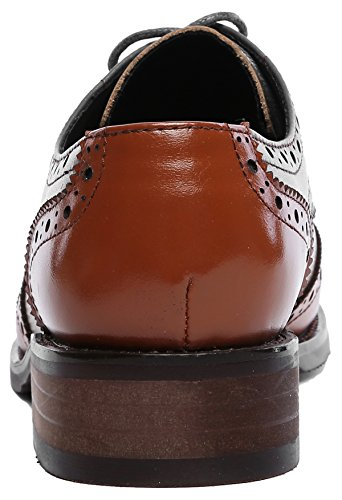 bb89a6f508 U-lite Women's Perforated Lace-up Wingtip Leather Flat Oxfords Vintage  Oxford Shoes Brogues