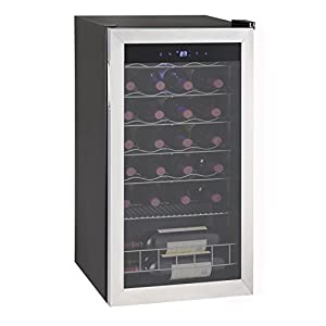 SMAD Compressor Wine Cooler Cellar Refrigerator, Stainless Steel, 28 Bottles