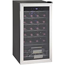 SMAD Compressor Wine Cooler Cellar Refrigerator, Stainless Steel, 28 Bottles