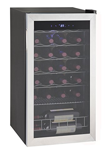 SMAD Compressor Wine Cooler Cellar Refrigerator, Stainless Steel, 28 Bottles by Smad