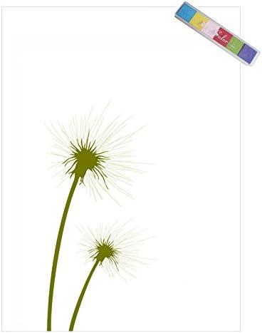 Tanzen L/öwenzahn Birthday Party Hochzeit Sign-in Fingerabdruck Baum Malerei Party Supplies DIY Finger Farbe Ohne Rahmen