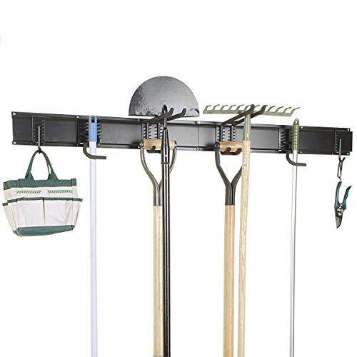 Ultrawall 8PC Garage Organizer, Garage Storage System With Hooks, Tool Organizer Holder - Hanging Organizer Garden Tool
