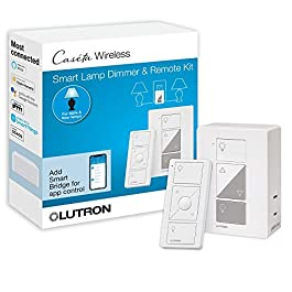 Lutron Caseta Smart Home Plug-in Lamp Dimmer Switch and Pico Remote Kit, Works with Alexa, Apple HomeKit, and The Google…