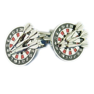 High Quality Dartboard & Darts Cufflinks by MC Gifts