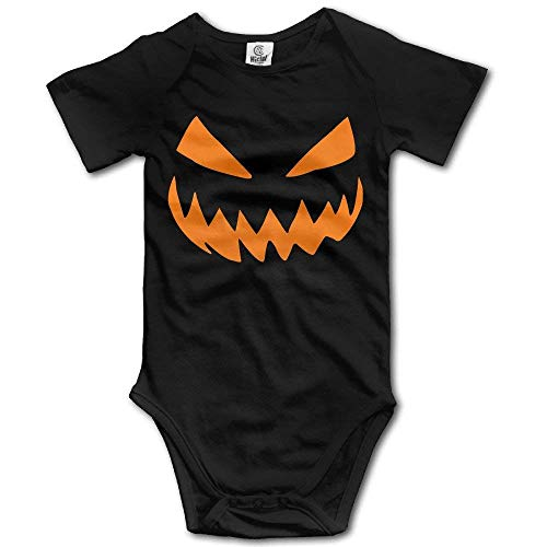 Pumpkins Halloween Logo Girls and Boys Baby Short-Sleeve Bodysuits -