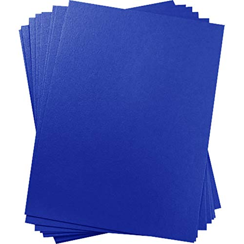 A9 Curious Metallics Electric Blue Blank Cards - Flat, 111lb Cover, 25 Pack ()
