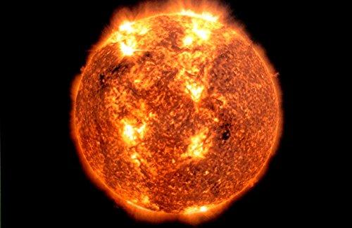 Black Light Reactive Solar Sun Outer Space Poster by New Horizon Aviation, LLC