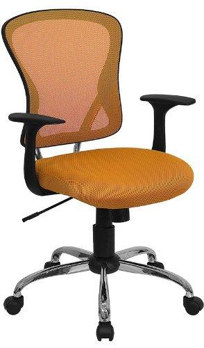 amazon com flash furniture mid back orange mesh swivel task chair