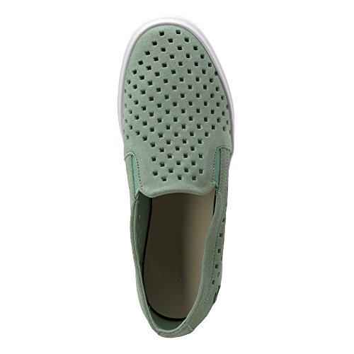 Lacoste Uomo Shua Strap Sk Fashion Sneaker Verde Chiaro / Camoscio Bianco