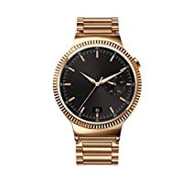 Huawei Watch Gold Plated Stainless Steel with Gold Plated Stainless Steel Link Band (U.S. Warranty)