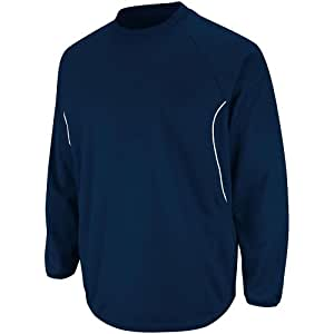 Majestic Athletic Majestic Youth Therma Base Tech Fleece Pullovers Small Navy Navy Small