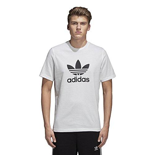 Adidas Men's Trefoil Tee, White, (Adidas Logo Short Sleeve Tee)