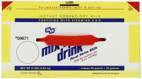 Amazon.com : Saco Mix 'n Drink, Instant Non-Fat Dry Milk, (makes ...