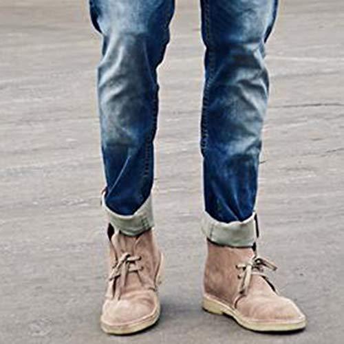 da Impermeabile Lavoro Desert Lace Boots Retro Stivali Brown Martin Mens Stivali Casual Up Cowboy Boots da Fashion vCEwqEB