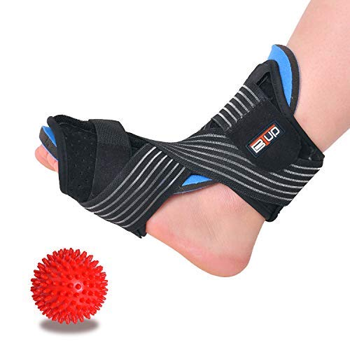 (Plantar Fasciitis Night Splint for Women & Men Sleep Support, Comfortable Adjustable Foot Drop Orthotic Brace for Relief Plantar Fasciitis, Heel, Arch Foot Pain, fit Right/Left Foot)
