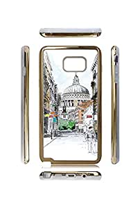 Galaxy Note 5 Case, Pretty Building - Vintage Phone Case&Cover for Samsung Galaxy Note 5