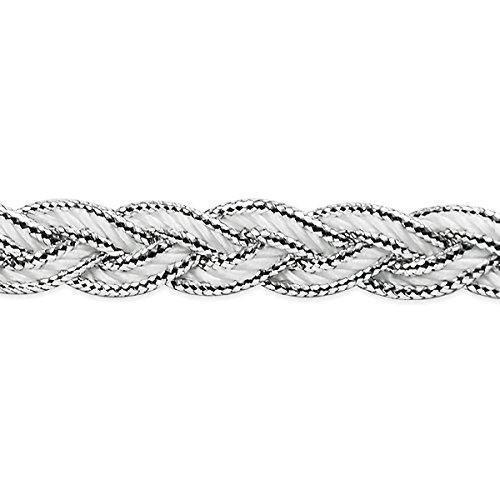 Expo International IR7036SL-20 20 Yards of Arcadia Metallic Braid Trim Silver