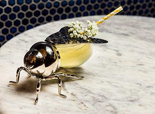 Beautiful Silver Plated Bee Honey Jar with little paddle Novelty Bee Honey Pot Le/'raze