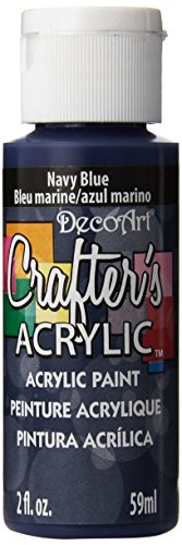 DecoArt Crafter's Acrylic Paint, 2-Ounce, Navy Blue (Best Navy Blue Paint Color)