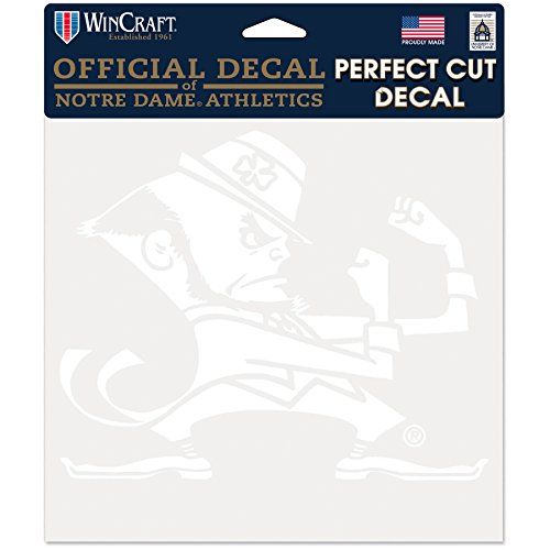 (NCAA Notre Dame Fighting Irish Perfect Cut White Decal, 8 x 8,)