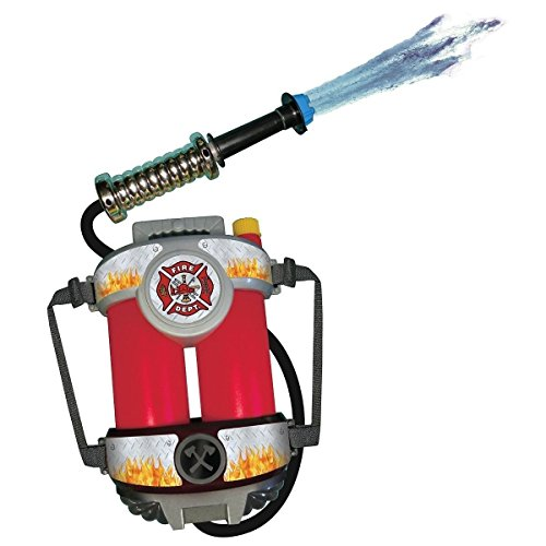 GSG Fire Hose Squirt Gun & Backpack Kids Fireman Toy Firefighter Costume Acsry - Regan Exorcist Mask