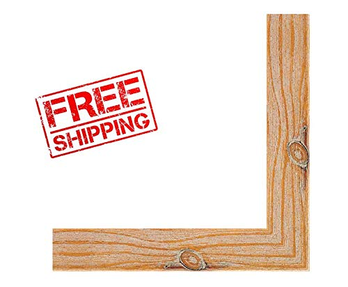 - MyronSalesStore GVVV10113 Picture Frame Moulding (Wood) 18ft Bundle - Distressed/Aged Honey Pecan Finish