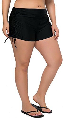 Sociala Swim Bottoms for Women Plus Size Swim Shorts High Waisted Tankini Bottom