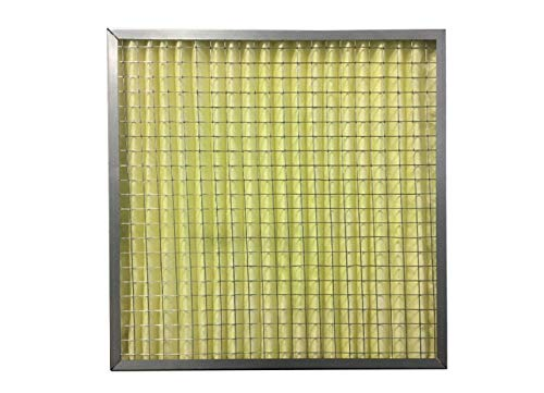 (Trophy Air High Temperature Pleated Air Filter (20x20x4) MERV 8, Standard Capacity, Synthetic, Galvanized Steel)