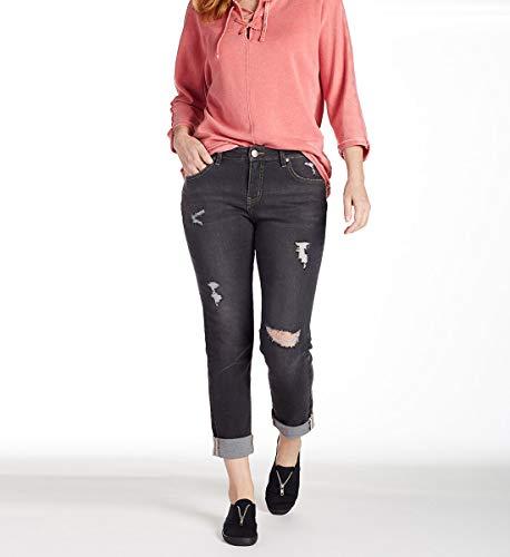 Jag Jeans Women's Carter Girlfriend Jean, Dark Grey, 10