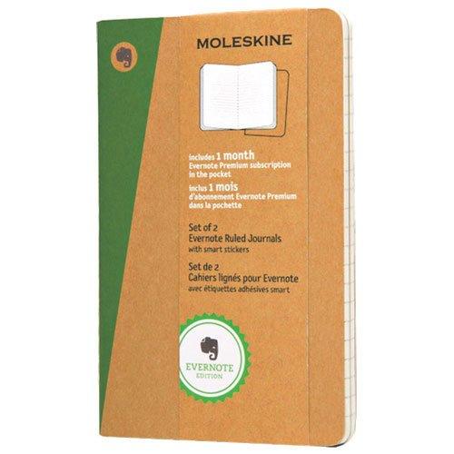 Moleskine 3.5 x 5.5 Evernote Pocket Smart Journal Set - 2 Pack - Brown
