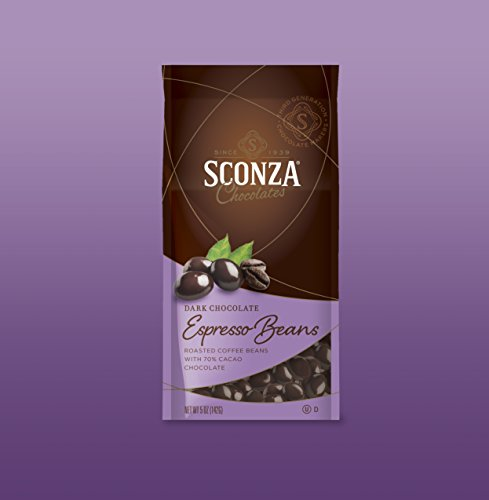 Sconza Chocolates Specialty Premium Medley Chocolate 5oz (Espresso Beans, 1 Pack) (Basket Fruit Sconza Chocolate)