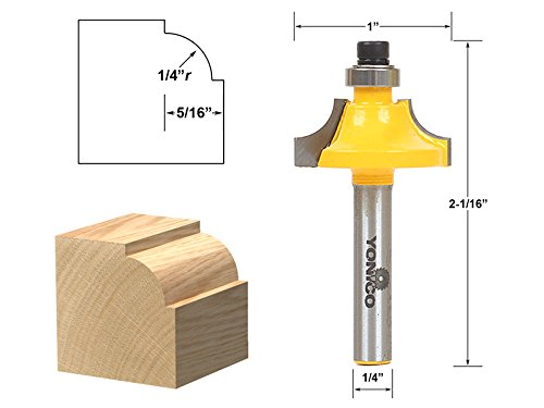 Beading Router Bit Set - Yonico 13172q Round Over Beading Edging Router Bit with 1/4
