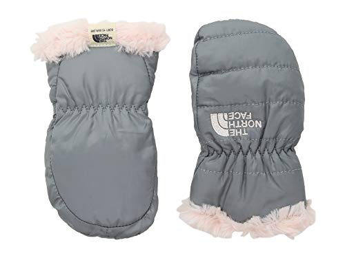- The North Face Baby Reversible Mossbud Swirl Mitt - Mid Grey & Purdy Pink - XXS